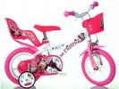 """Dětské kolo 12"""" Minnie se sedačkou pro panenku a košíkem"""