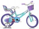 """Dětské kolo 14"""" Frozen se sedačkou pro panenku a košíkem"""