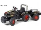 Šlapací traktor Farm King s vlečkou
