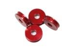 Distanční podložka 5 mm pro M5 Červený elox