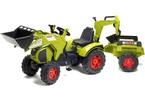 Šlapací traktor Claas Axos s nakladačem, rypadlem a vlečkou
