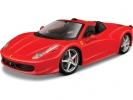 Bburago Ferrari 458 Spider 1:24 červená