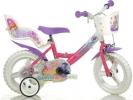 """Dětské kolo 12"""" Winx se sedačkou pro panenku a košíkem"""