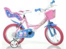 """Dětské kolo 14"""" Pepa Pig se sedačkou a košíkem"""