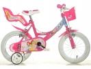 """Dětské kolo 16"""" Princess se sedačkou pro panenku a košíkem"""