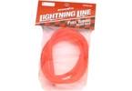 Palivová hadička fluorescentní - červená 1m