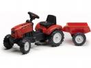 Šlapací traktor 2030 Lander Z160X s vlečkou červený