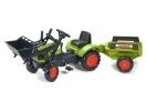Šlapací traktor Claas Arion 410 s nakladačem a vlečkou