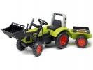 Šlapací traktor Claas Arion 430 s nakladačem a vlečkou