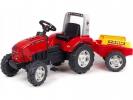 Šlapací traktor Farm lander Z240X s vlečkou červený