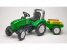 Šlapací traktor Farm lander Z240X s vlečkou zelený