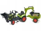 Šlapací traktor Claas Arion 410 s nakladačem, rypadlem a vlečkou