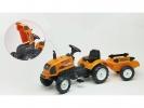 Šlapací traktor Renault Celtis 436RX s vlečkou