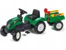 Šlapací traktor Ranch Trac s vlečkou zelený